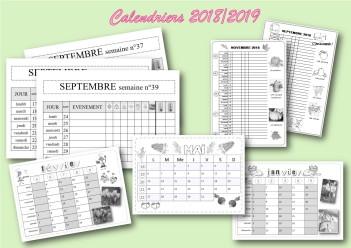 calendriers de l'année