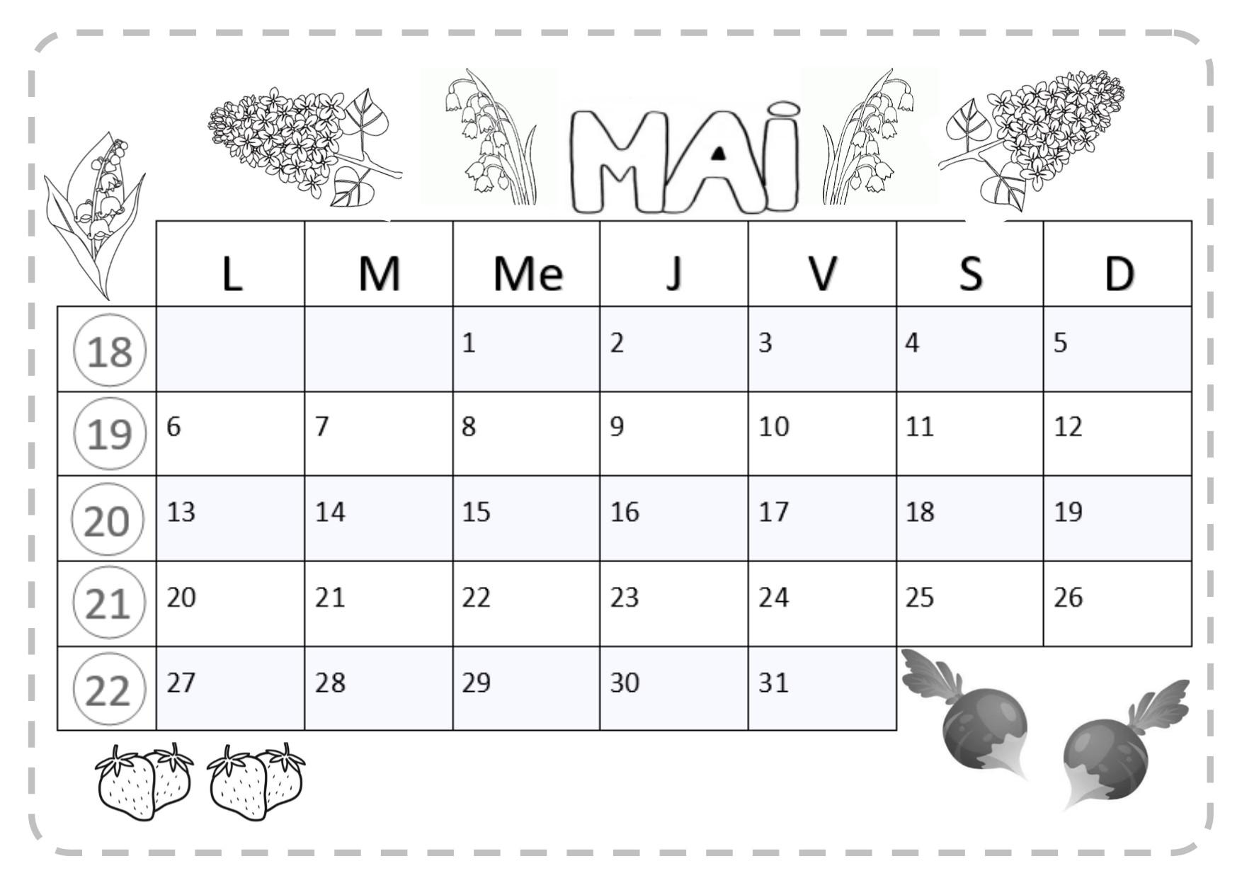 Calendrier Mai2019.Mai 2019 Cerianthe En Classe