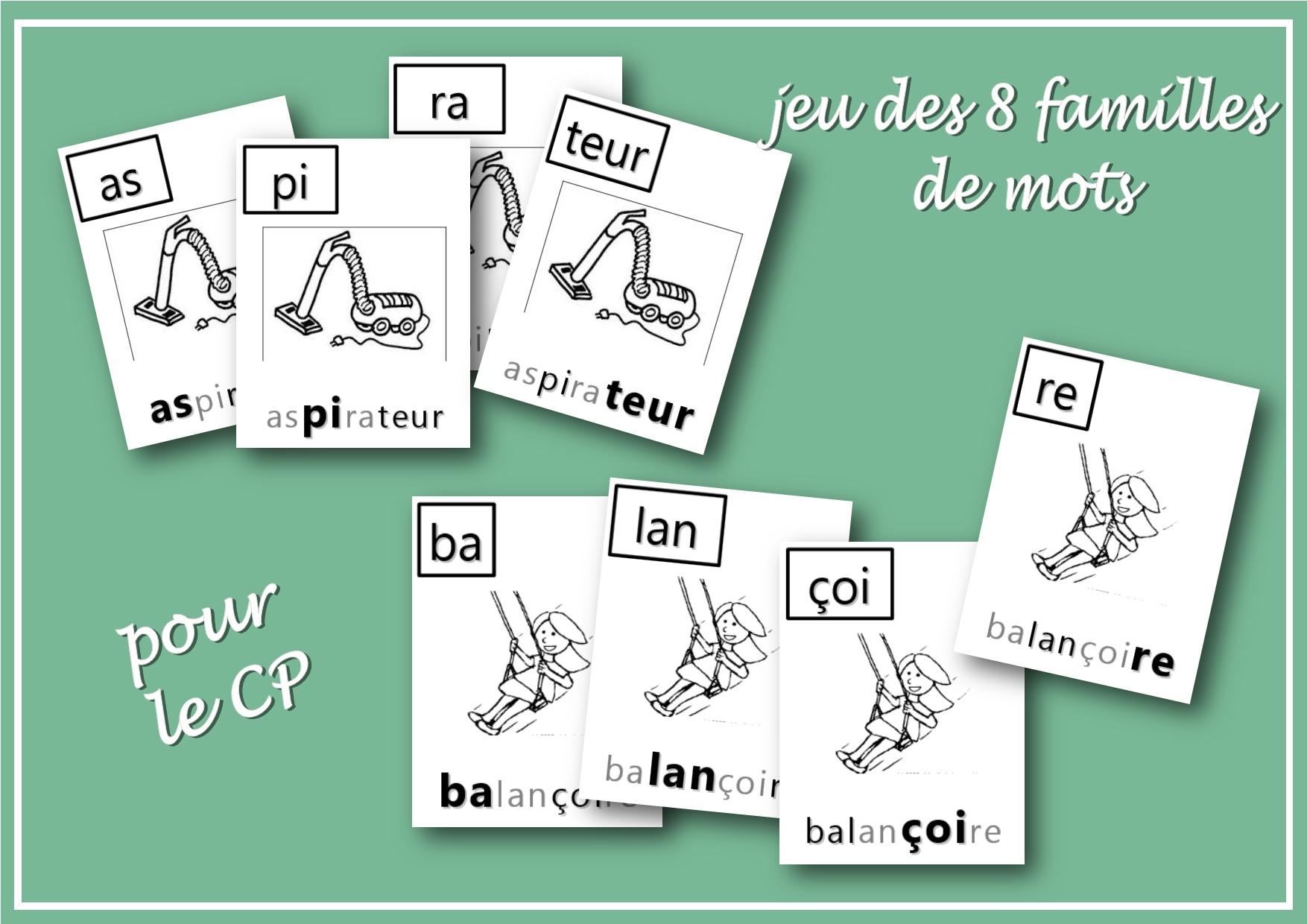 les 8 familles de mots