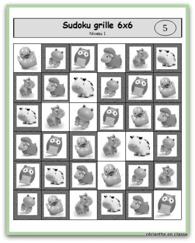 sudoku animaux 6x6 réponses-001