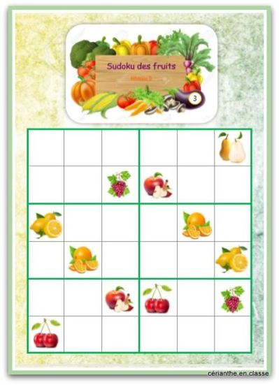 sudoku des fruits 6x6 3-001
