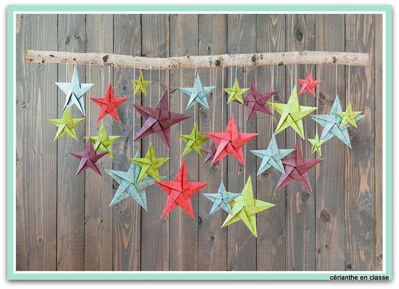 mobile d'étoiles origami