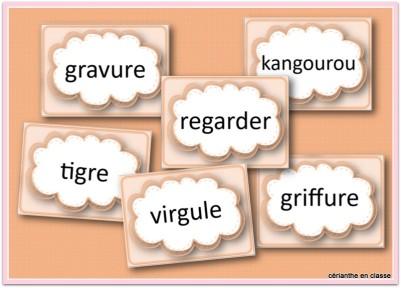 mots en G présentation 2