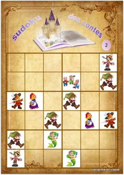sudoku des contes 6x6 2