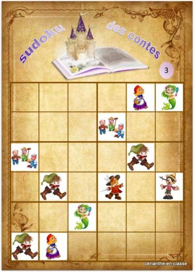 sudoku des contes 6x6 3