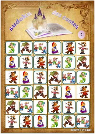 sudoku des contes 6x6 solutions 2