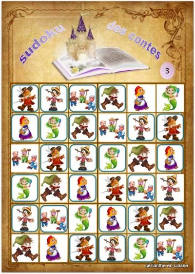 sudoku des contes 6x6 solutions 3