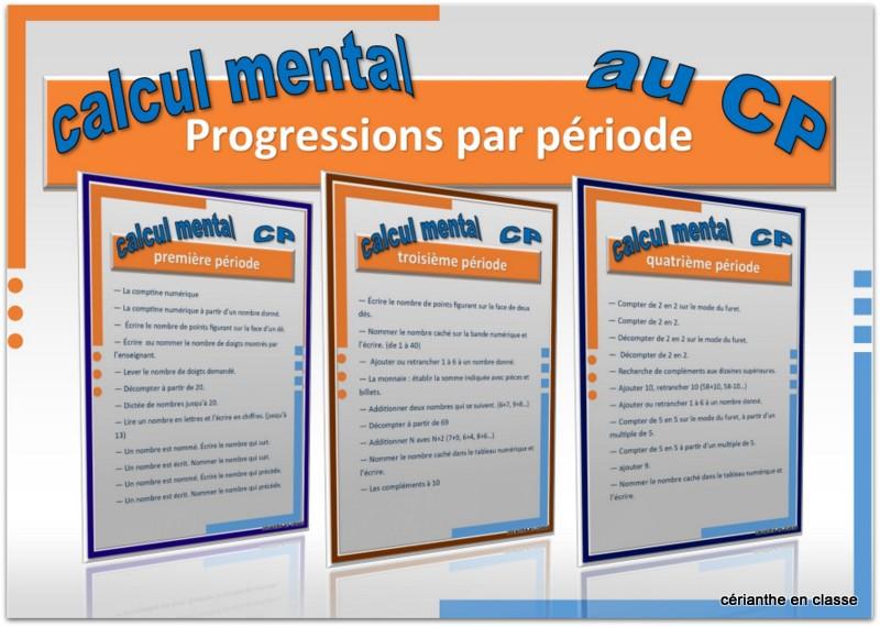 calcul mental cp présentation