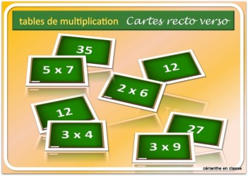 cartes recto verso multiplications présentation