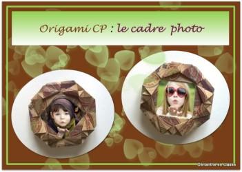 origami cadre présentation