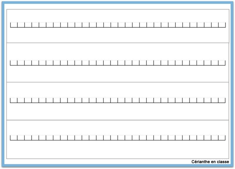 segments de droite numérique 2