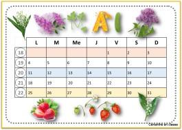 calendriers 2020 avril à août 2