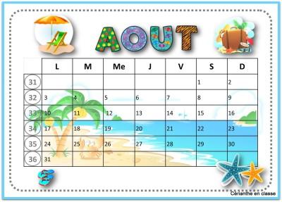 calendriers 2020 avril à août 5
