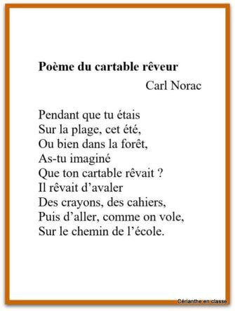 cartable rêveur texte