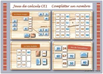 jeux de calculs CE1.présentation
