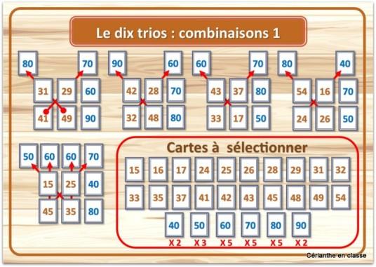 le dix trio combinaisons 1