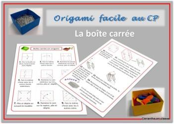 origami boite présentation
