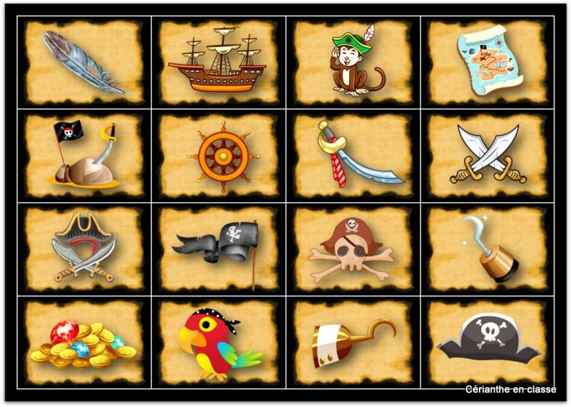 cartes trésor pour jeu des pirates - Copie