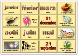 cartes mois et événements