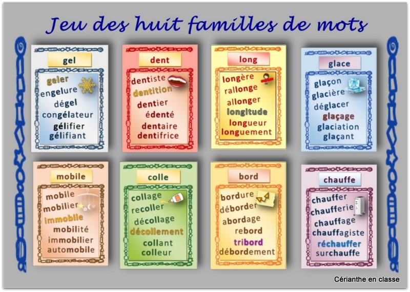 jeu des huit familles de mots - Copie