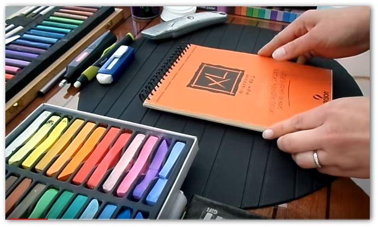 pastels et papier