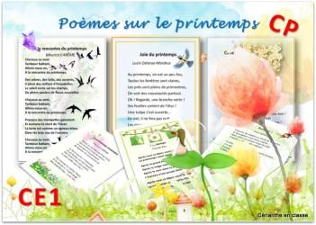 poèmes printemps présentation