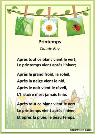 poèmes printemps