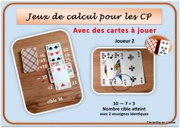 jeux de calculs avec cartes 6