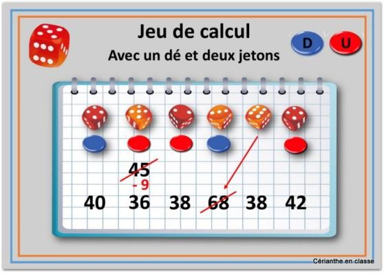 jeux de calculs avec dés 1