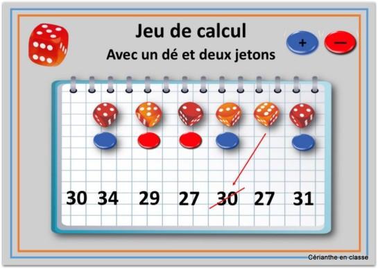 jeux de calculs avec dés 4