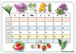 calendriers 2021 mai