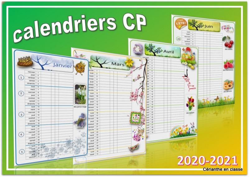 CALENDRIERS CP 2020 2021 – Cérianthe en classe