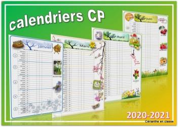 calendriers cp 1 colonne présentation