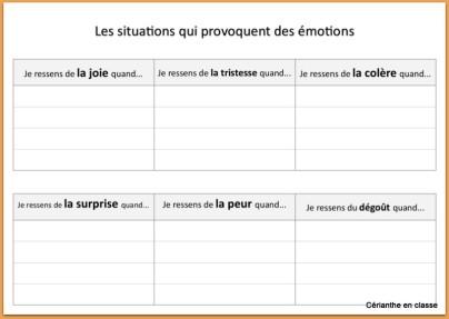 situations émotionnelles tabl CE1