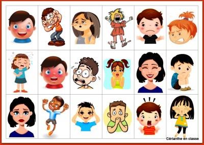 vignettes émotions CP