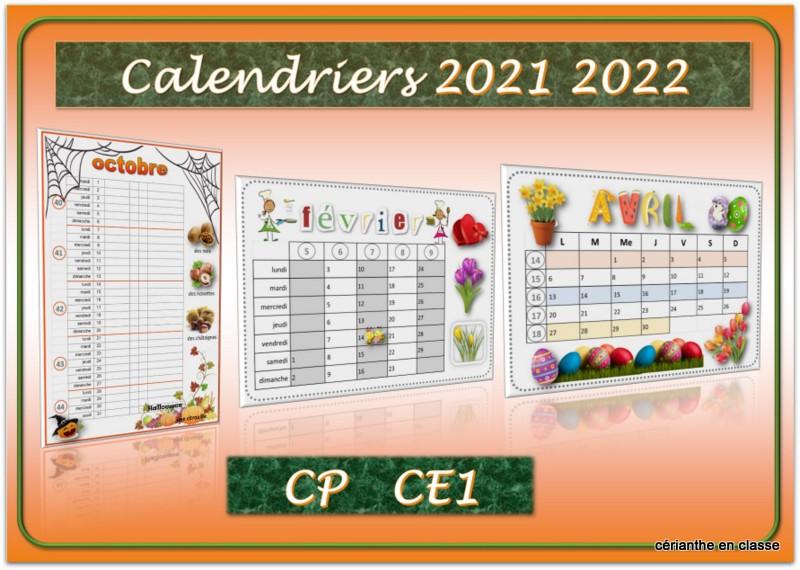 calendriers 2021 2022 présentation