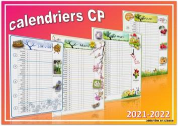 calendriers cp 1 colonne 2021 22